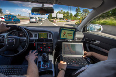 Test vehicle cockpit