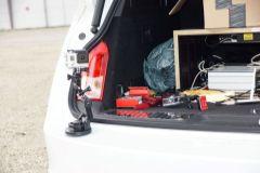 Ausrüstung des Testfahrzeugs
