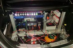 Blick in den Kofferraum des Testfahrzeuges