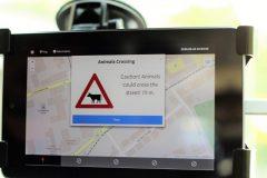 Anzeige im Testfahrzeug