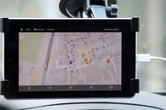 Navigation im Testfahrzeug