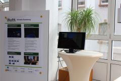 Stand of the virtual trial