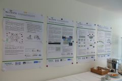 Plakatwand bei der Abschlussveranstaltung