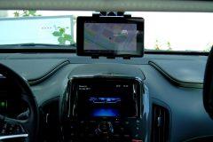 Cockpit des Testfahrzeugs