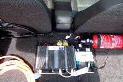 ITS-Ausrüstung des Testfahrzeugs