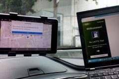 Connection between a PC and the navigation system